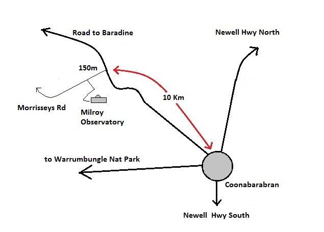 Map to Milroy