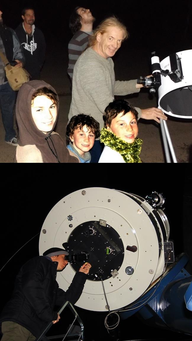 Scopes and folks at Milroy Observatory